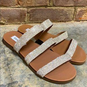 Steve Madden Rhinestone Sparkle Straps Sandals